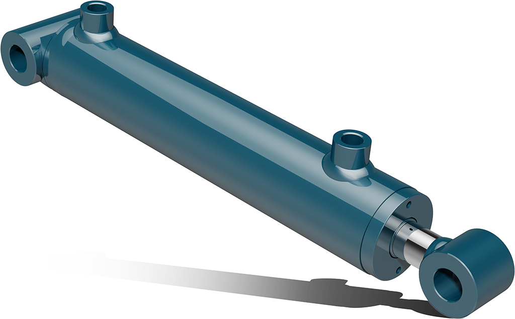 Double acting hydraulic cylinders with tube ends – CAT