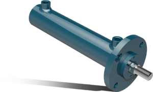 Double acting hydraulic cylinder with front flange – CFA