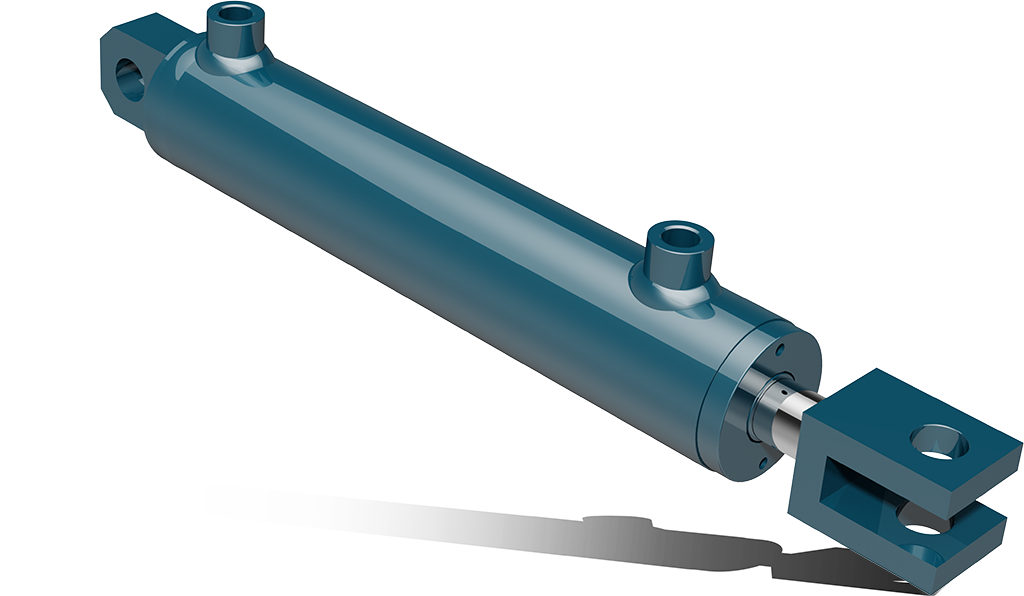 Dual acting hydraulic cylinders with clevis and fork – CPF